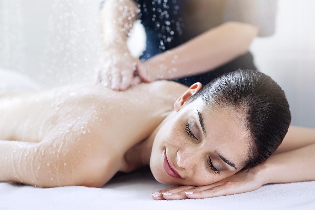 photo d'un massage sous affusions