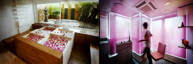 image de cabines de soin en thalasso
