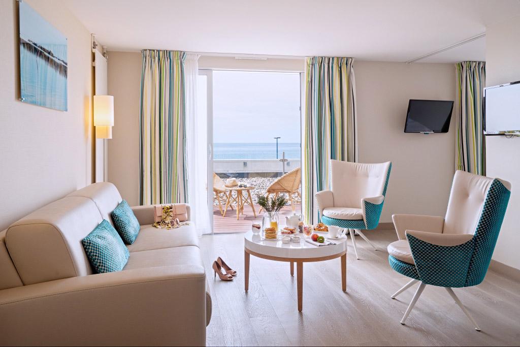 Photo d'une suite à l'hôtel de la Baie en Normandie