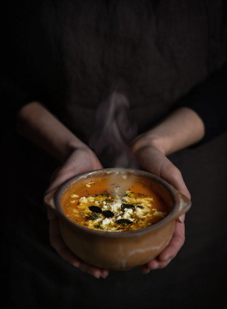 photo culinaire, bol de soupe