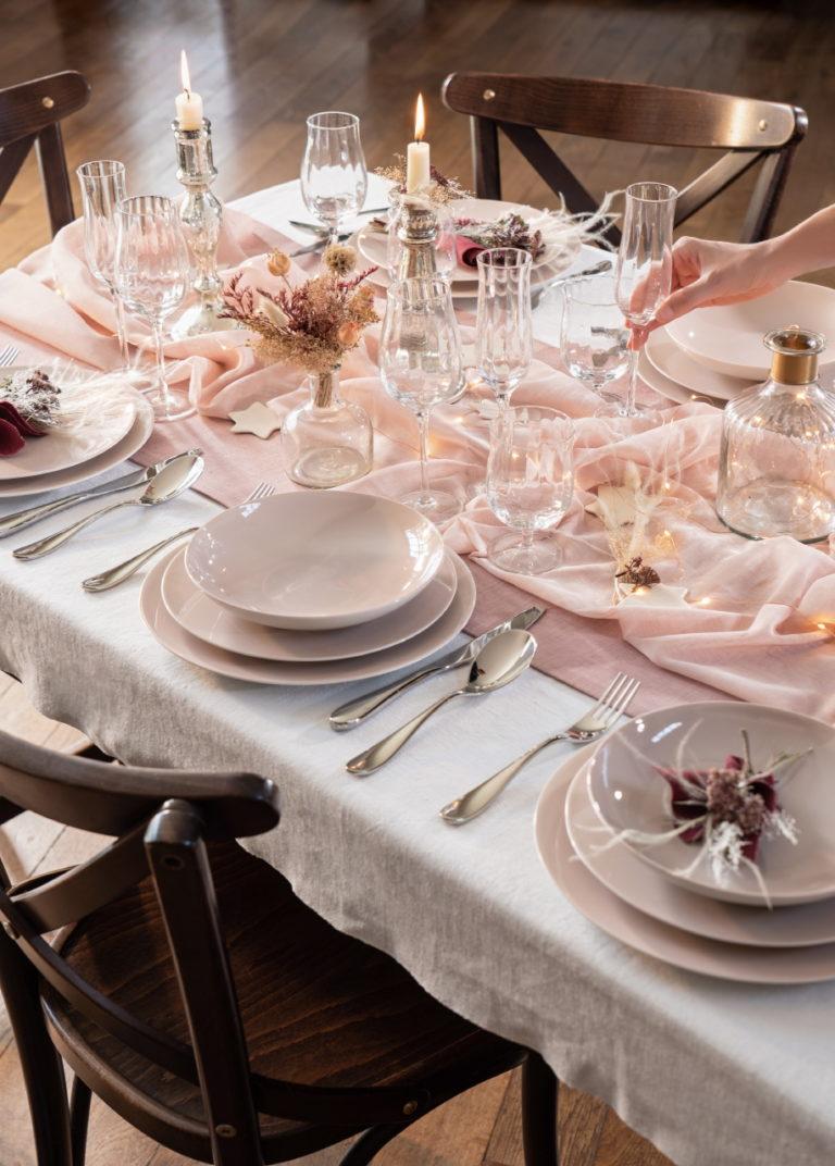 photo art de la table pour un mariage