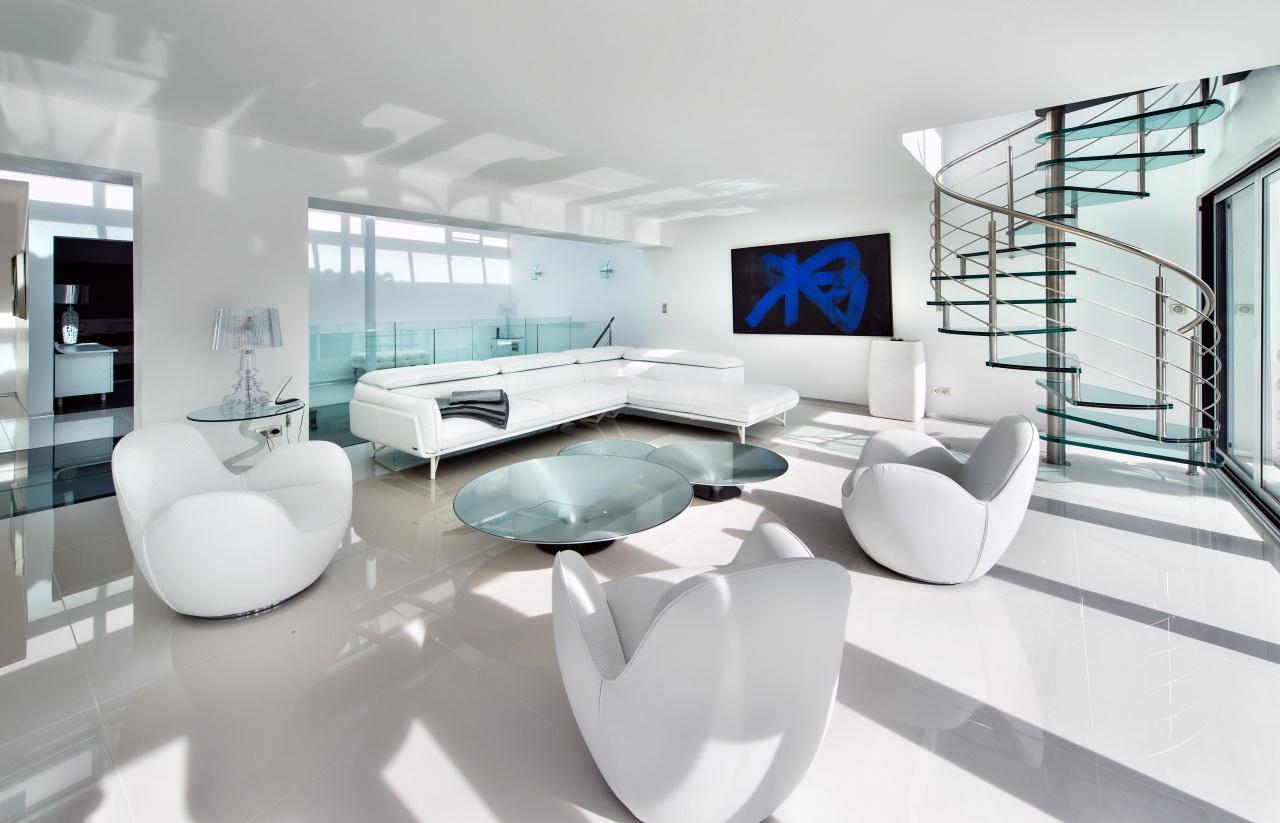 photo d'un salon ultra moderne