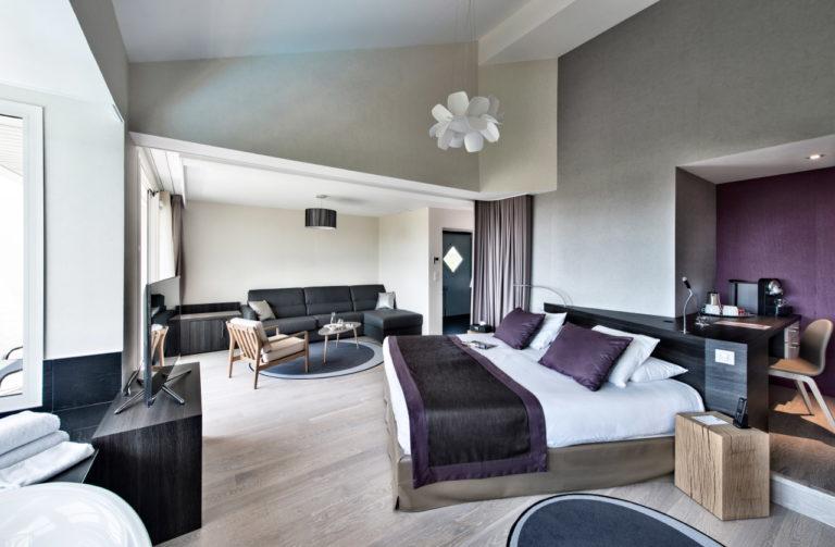 Reportage photo intérieure d'une suite en hôtellerie de luxe en Bretagne