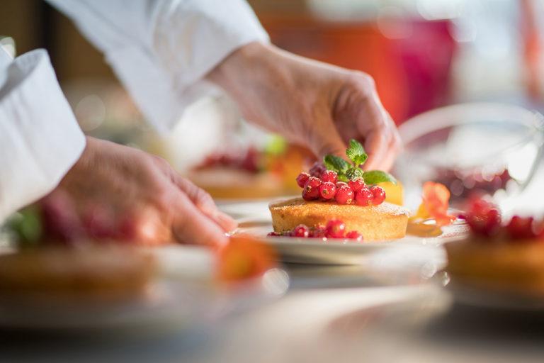 photo culinaire en cuisine professionnelle