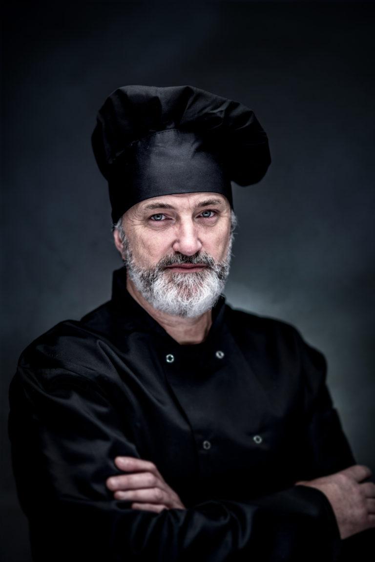 portrait d'un chef cuisinier