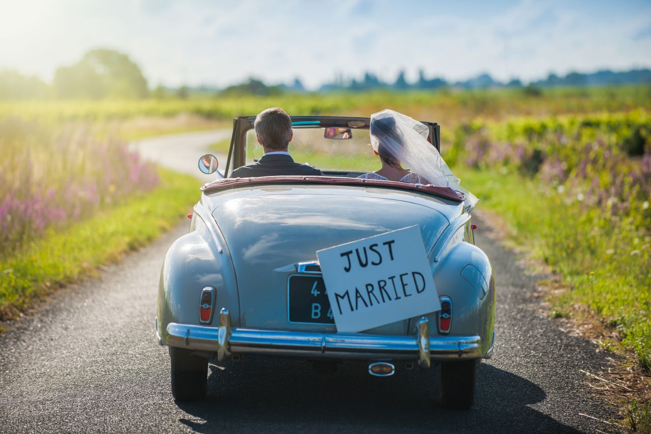 Photo lifestyle just married