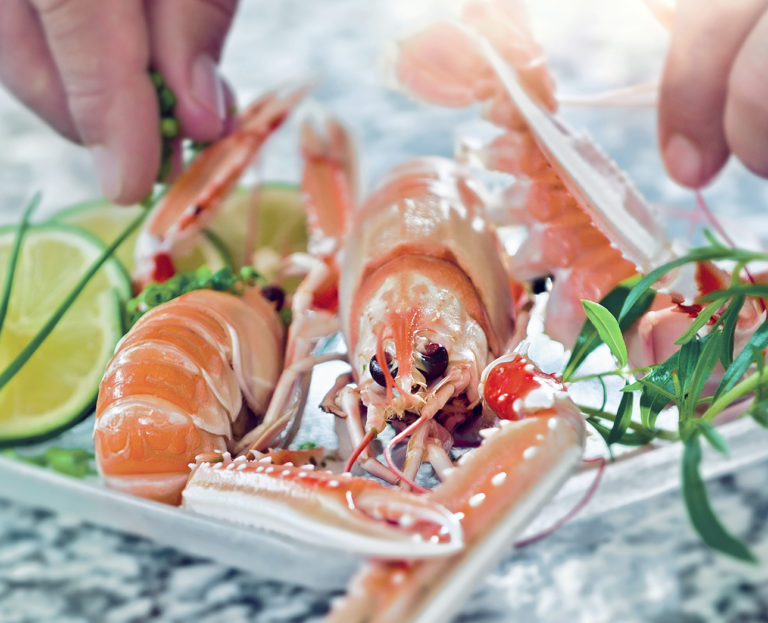 photo culinaire de langoustine